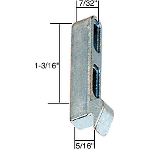 CRL A128 Sliding Screen Door Latch Strike with 5/16