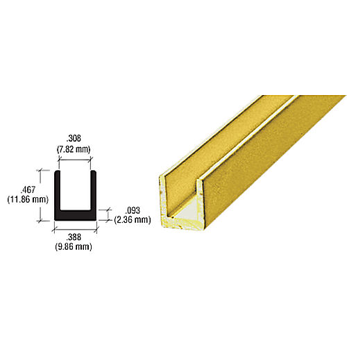 CRL D631GA Single Channel, Gold Anodized