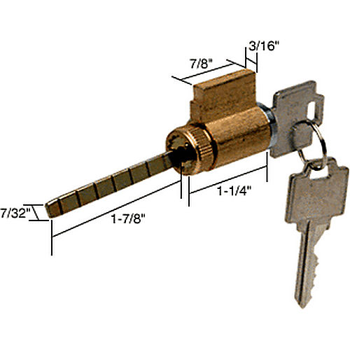 CRL E2000 Cylinder Lock with Compatible Keyway for Weiser Kwik Set and Wes Lock