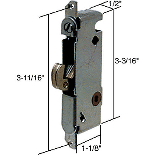 CRL E2013 Round End Face Plate Mortise Lock with Vertical Keyway for W&F Doors