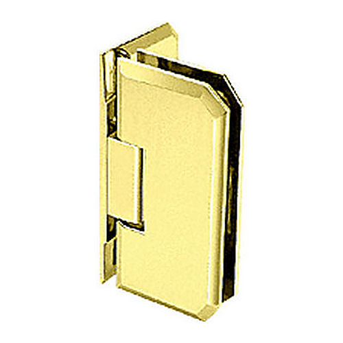 CRL M0N044BR Brass Monaco 44 Series Wall Mount Offset Back Plate Hinge