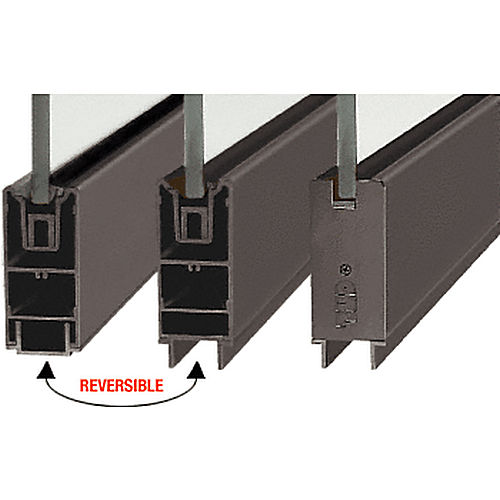CRL SR4SDU3812240 Square Sidelite Rail, Black Bronze Anodized