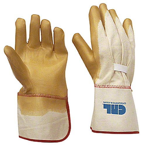 CRL 12 Gauntlet Cuff Smooth Natural Rubber Palm Gloves