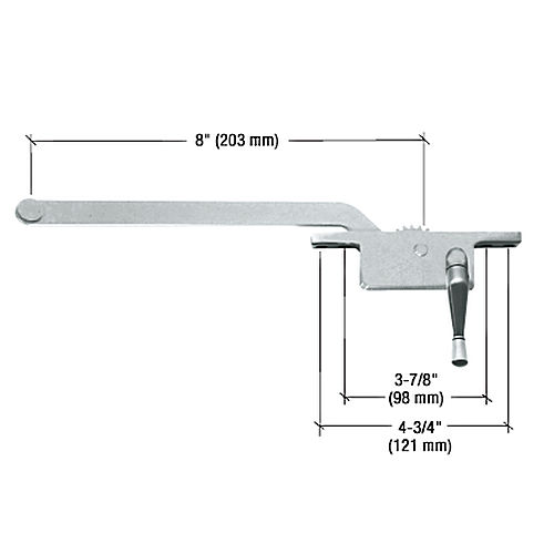 CRL 5258RHAL RH Square Series Casement Window Operator