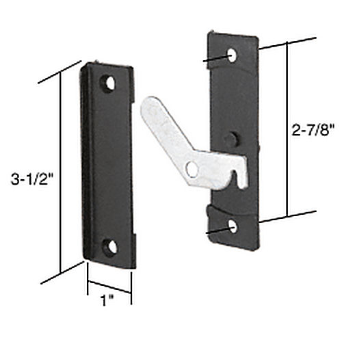 CRL A122 Sliding Screen Door Latch and Pull with 2-7/8