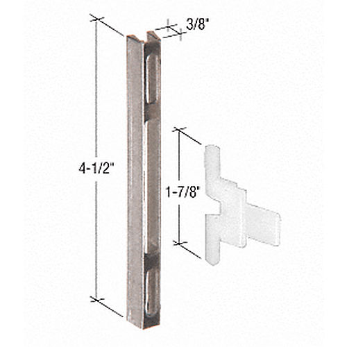 CRL A140 Sliding Screen Door Latch and Strike with 4-1/2