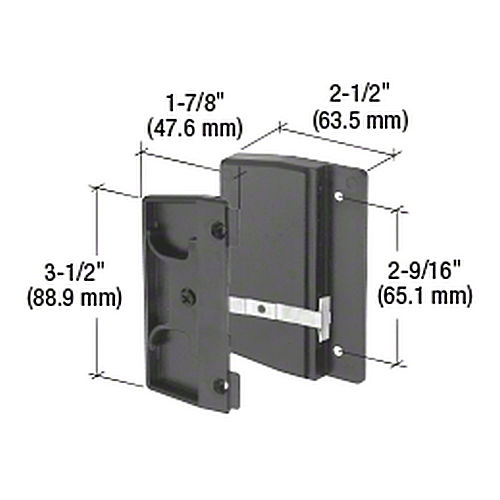 CRL A145 Sliding Screen Door Latch and Pull with 2-9/16