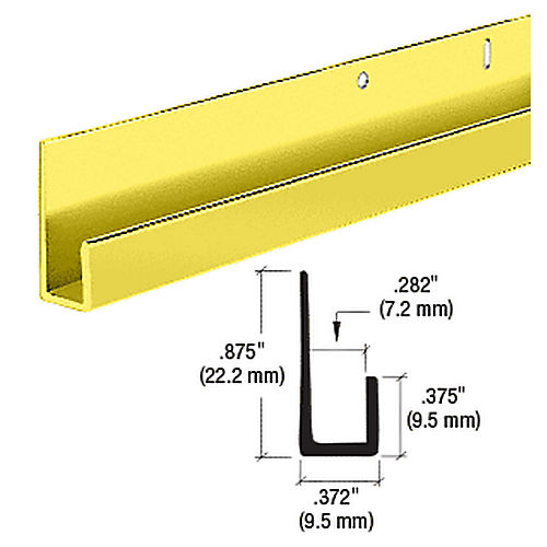 CRL D636BGA Standard J Channel, Brite Gold Anodized