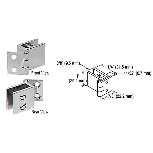 CRL EH73 S Mall Set Screw Hinge for 1/4