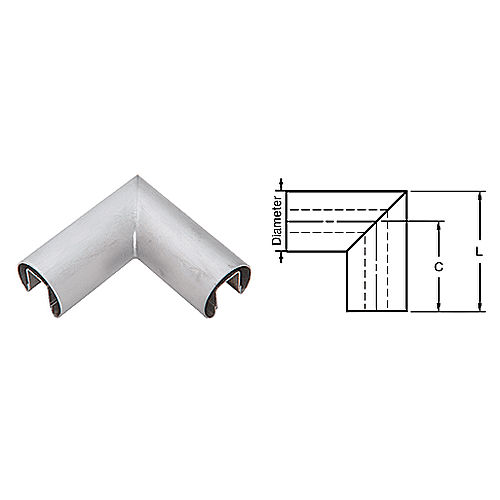 CRL GR25HBS Horizontal Corner for 1/2