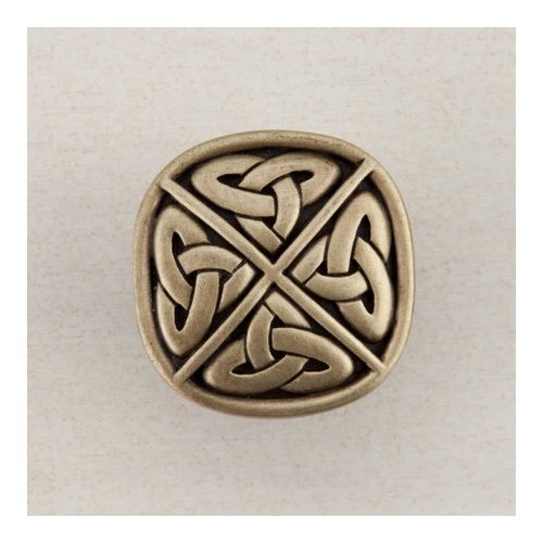 Acorn DQGAP Artisan Collection Knob Celtic Square 1-1/4