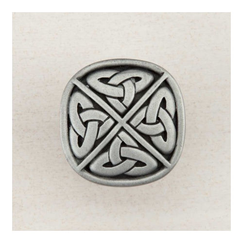 Acorn DQGPP Artisan Collection Knob Celtic Square 1-1/4