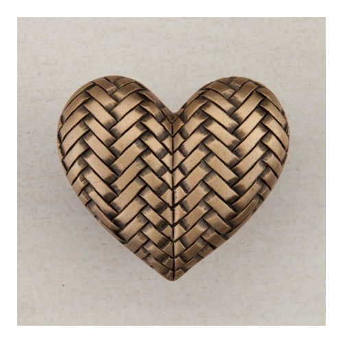 Acorn DQJGP Artisan Collection Knob Woven Heart 1-1/2