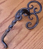 Agave Ironworks PU036-01 Twisted L Fancy Back Pull, Flat Black