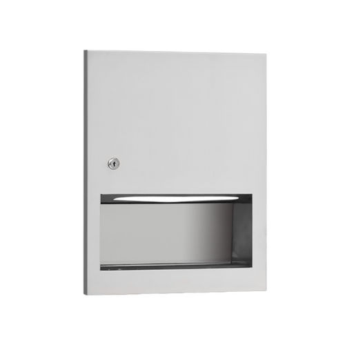 AJW U2324 Unidoor C-fold/Multifold Towel Dispenser, Recessed