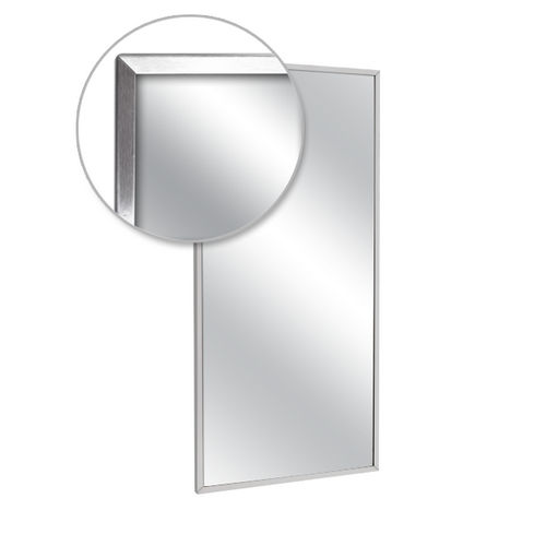 AJW U711-1824 Channel Frame Mirror, Plate Glass 18