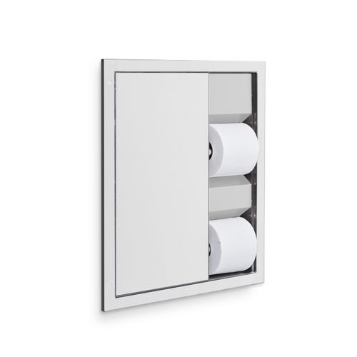 AJW U864A Dual Toilet Tissue Dispenser, Recessed