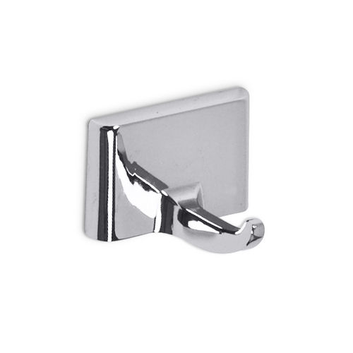 AJW UC10 Single Bright Zamac Robe Hook, Surface Mounted