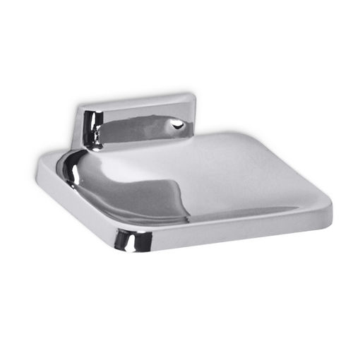 AJW UC21 Bright Zamac Soap Dish with o Drainage Holes, Surface Mounted