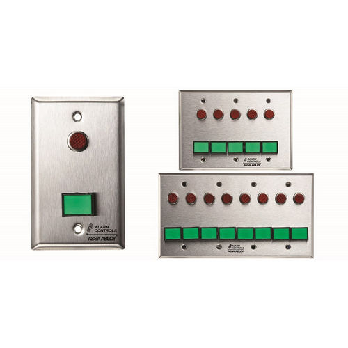 Alarm Controls SLP-2L Monitoring/Control Station Single Gang Stainless Steel 2Ea Dsw-4 III Gn 12V 2Ea 1/2