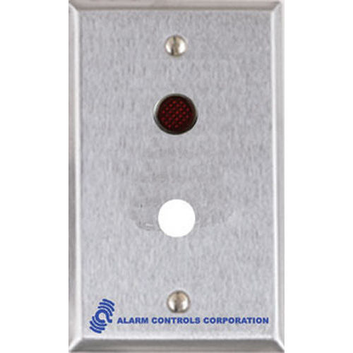 Alarm Controls RP-30L Remote Plate, Single Gang Stainless Steel with One 1/2