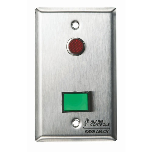 Alarm Controls SLP-1M Monitoring/Control Station Single Gang Stainless Steel 1Ea Dsw-3 III Gn 12V 1Ea 1/2