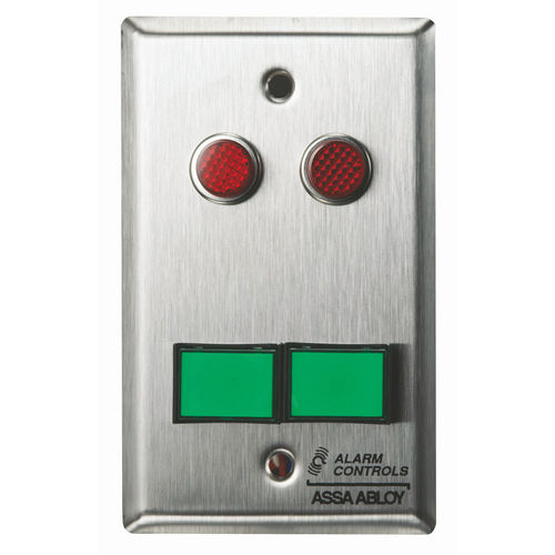 Alarm Controls SLP-2M Monitoring/Control Station Single Gang Stainless Steel 2Ea Dsw-3 III Gn 12V 2Ea 1/2