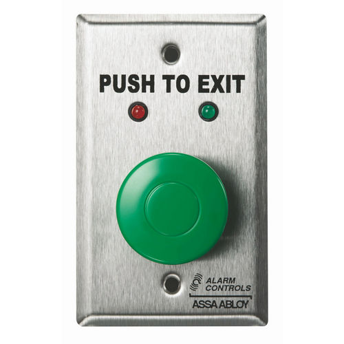 Alarm Controls TS-1 Push Button Request To Exit Station Hd 1.5 Green Button Exit