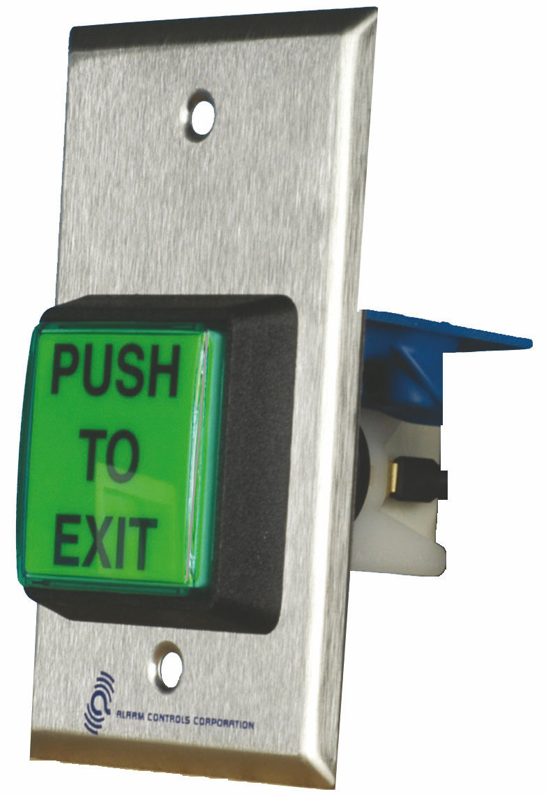 Alarm Controls Ts2t 2 Quot Green Square Push To Exit Button