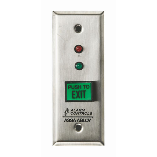 Alarm Controls TS-8 Push Button Request To Exit Green  with Red & Green LEDs UL Listed