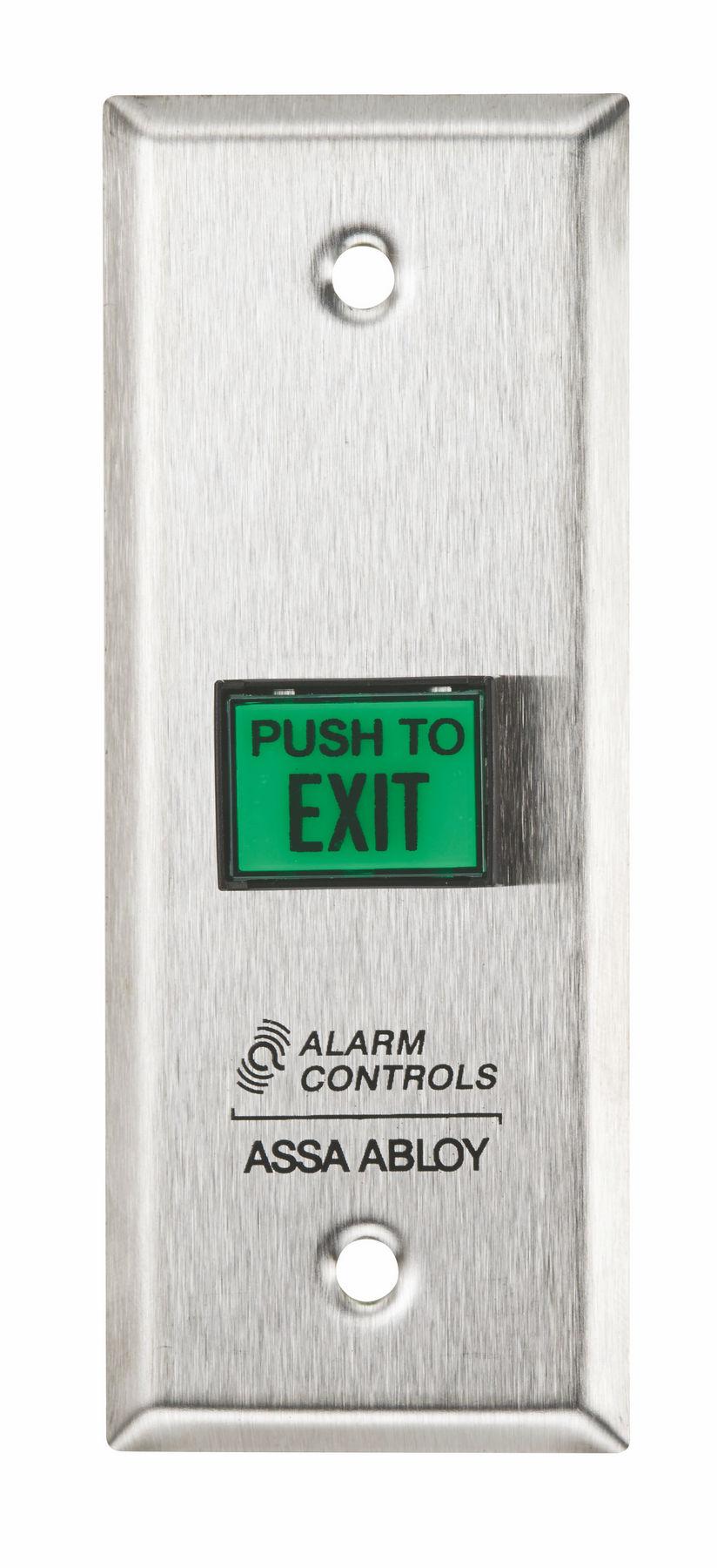 Alarm Controls Ts9 Narrow Green Square Push To Exit Button