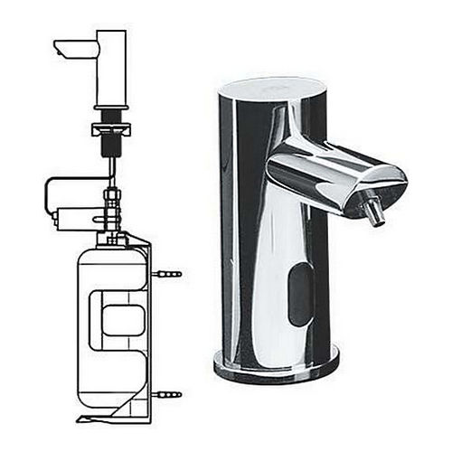 ASI 0394-1A EZ-Fill, Stand-Alone FOAM Soap Dispenser with I Liter Bottle, Battery Operated