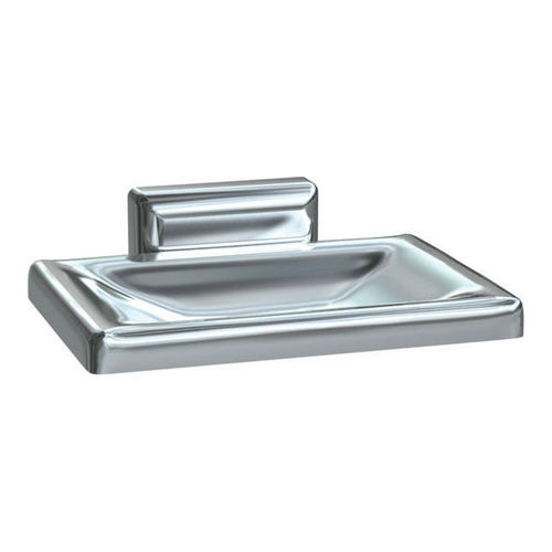 ASI 0720-Z Soap Dish with Drain Holes, Surface Mounted, Chrome Plated Zamak