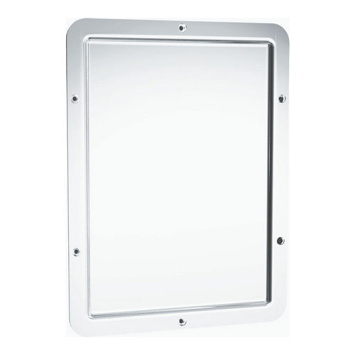 ASI 107 Mirror, 18 Ga. Mirror Polished, Front Mount, 12