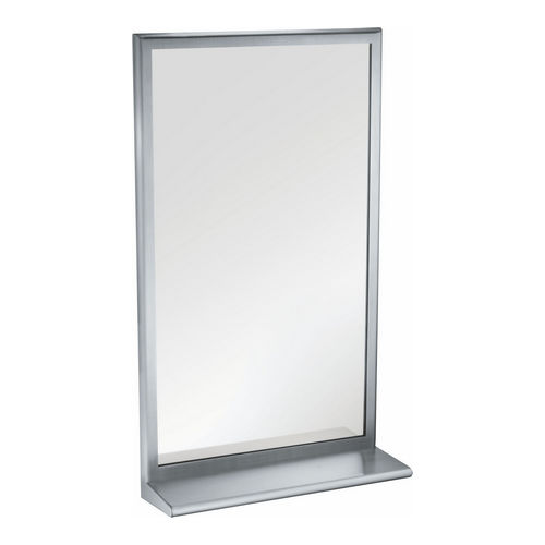 ASI 20655-B2460 Roval Inter-Lok Framed Mirror, Tempered Glass with Shelf, 24