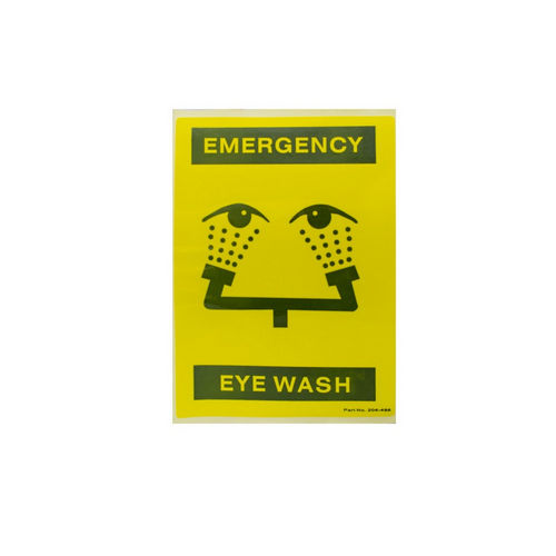 Bradley 204-486 Safety Sign, for Faucet Eyewash
