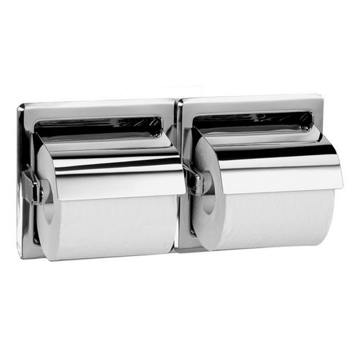 Bradley 5123-550000 Toilet Tissue Dispenser, Recessed, Dual
