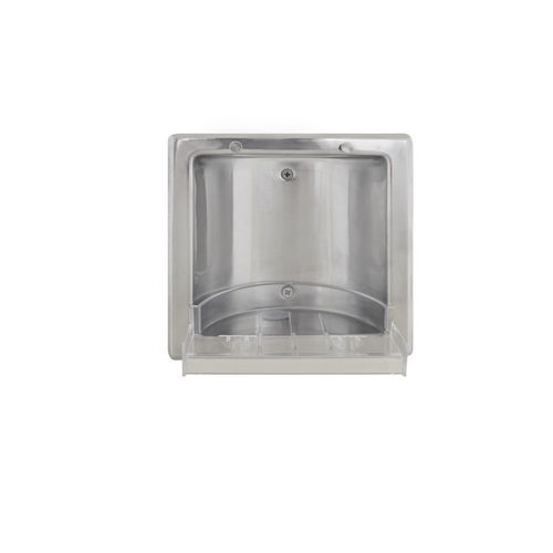 Bradley 9352-000000 Soap Dish, Recessed, Polished Stainless