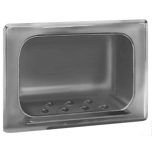 Bradley 9401-000000 Soap Dish, Recessed, Satin Stainless