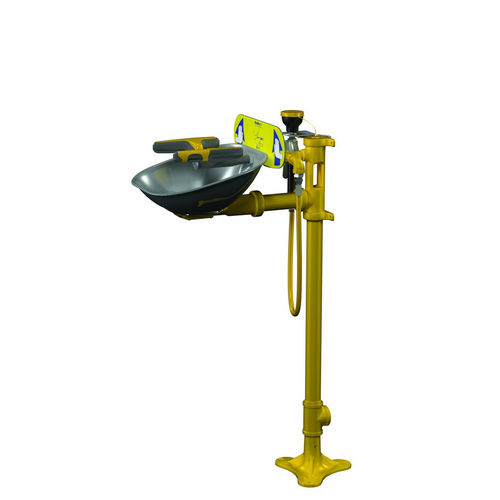Bradley S19214P Safety Eye/Face Wash, Pedestal Mount