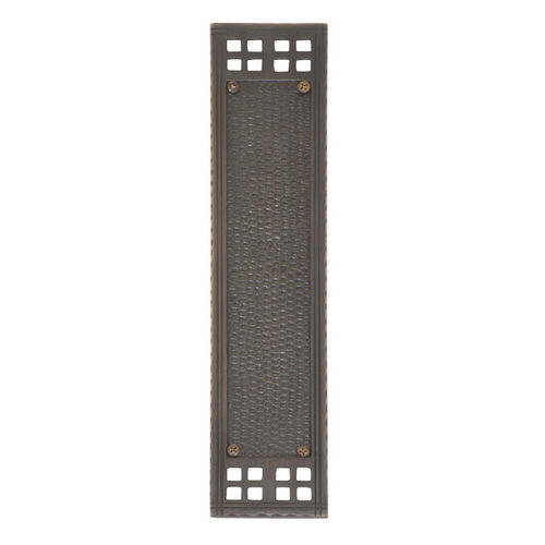 Brass Accents A05-P5350-605 Arts & Crafts Push Plate 2-1/2