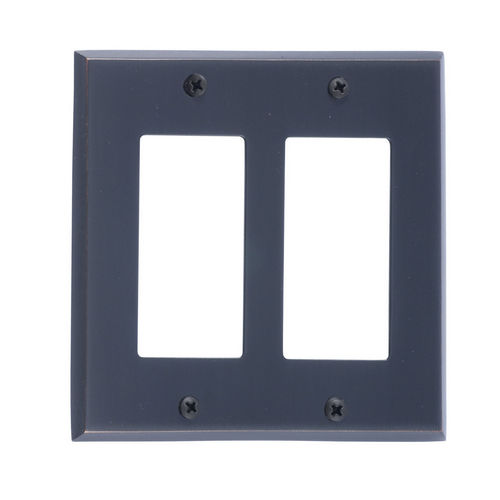 Brass Accents M07-S4570 Quaker Double GFCI, Venetian Bronze
