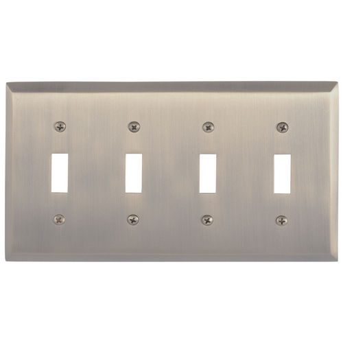 Brass Accents M07-S4591 Quaker Quad Switch, Antique Brass