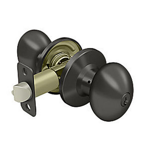 Deltana 3381-10B Egg Knob Entry, Oil Rubbed Bronze (Each)