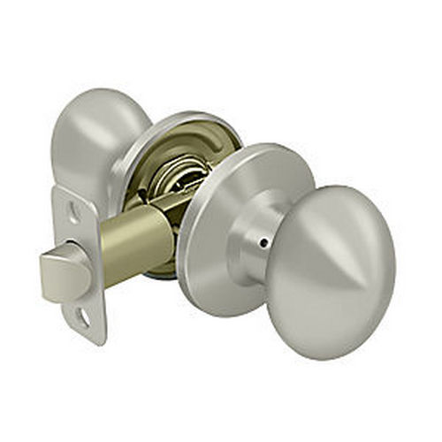 Deltana 3383-15 Egg Knob Passage, Satin Nickel (Each)