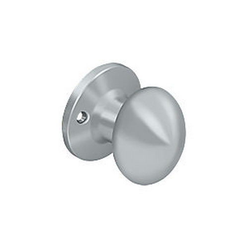 Deltana 3384D-26D Egg Knob Dummy, Brushed Chrome (Each)