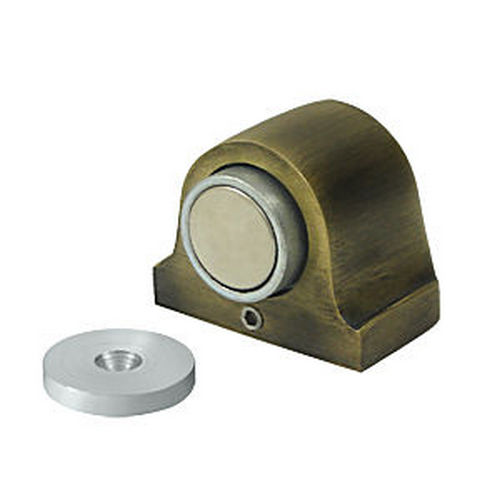Deltana DSM125U5 Magnetic Dome Stop, Antique Brass (Each)