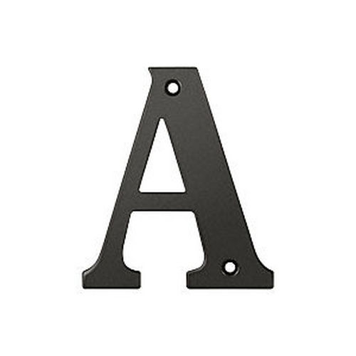 Deltana RL4A-10B Residential Letter A, Oil Rubbed Bronze (Each)