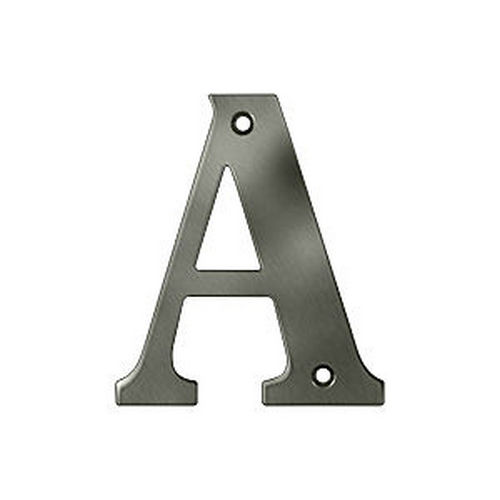 Deltana RL4A-15A Residential Letter A, Antique Nickel (Each)