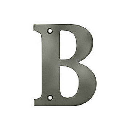 Deltana RL4B-15A Residential Letter B, Antique Nickel (Each)